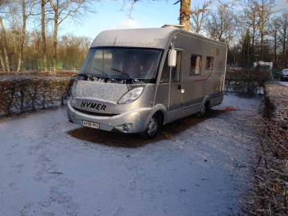 Our Van dusted with snow