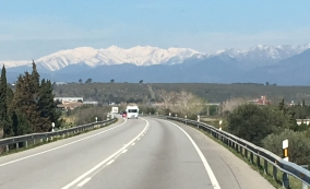 Approaching the Pyranees
