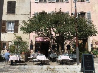 Cafe in main square Cotignac