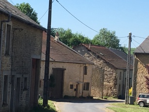 Typical farm buildings and homes of the area