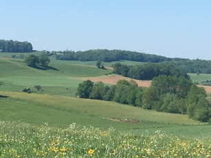 A view of rolling hills....