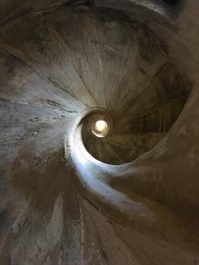 Spiral staircase to roof of Iglesia Santa María Mayor, Ronda