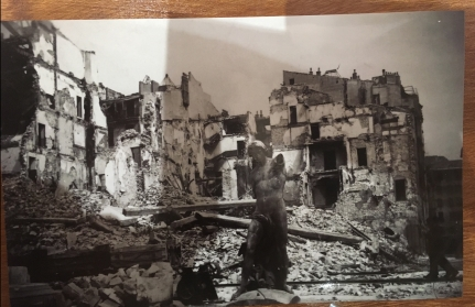 Toulon Harbour after severe bombing in 1943