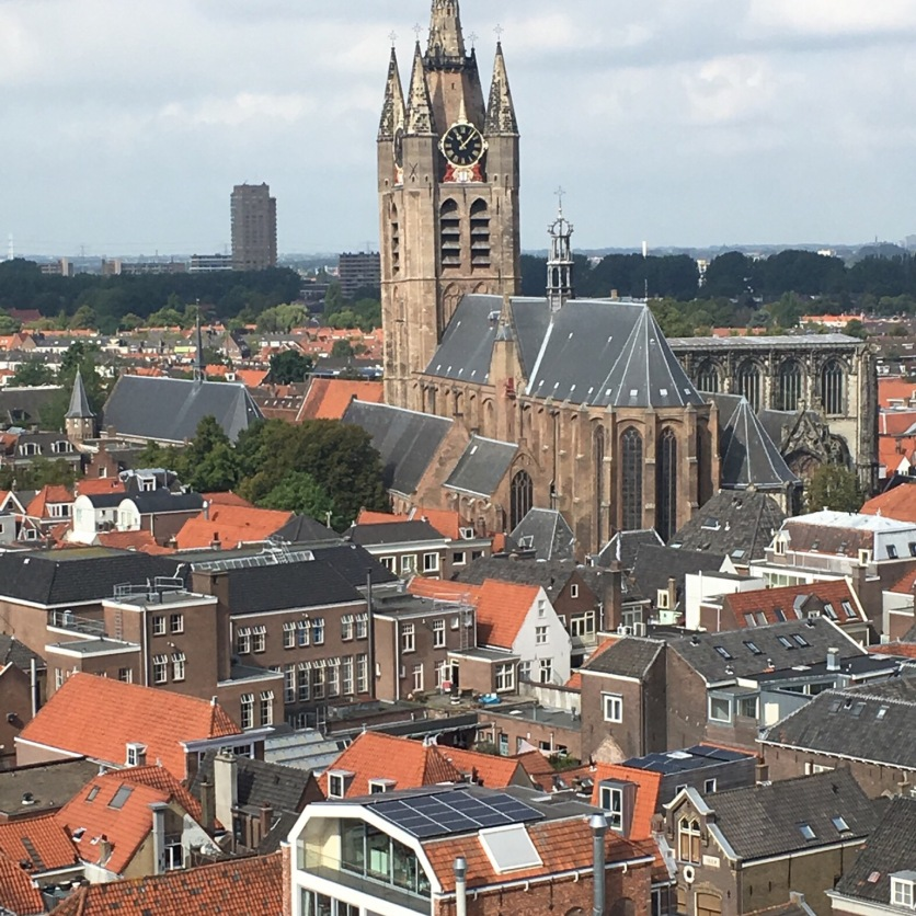 View of the Old Church from the New Church, Delft