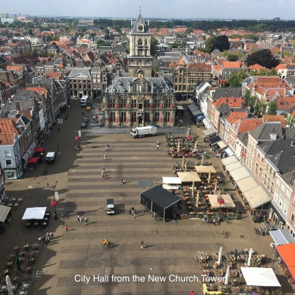 View of City Hall from New Church, Delft