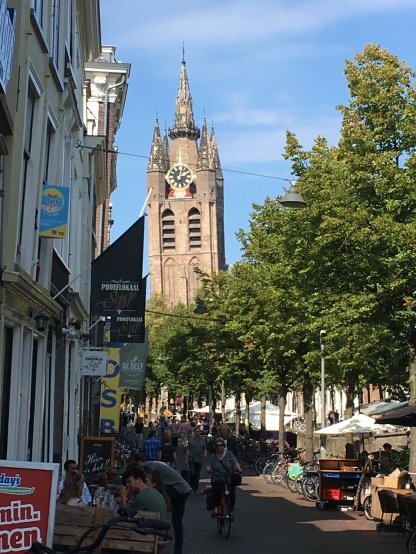 The Old Church leaning Tower, Delft