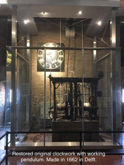 Restored city hall clock, Delft