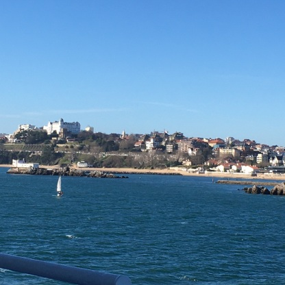 Entering Santander Harbour